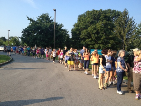 Lines Waiting To Enter Breyerfest 2013